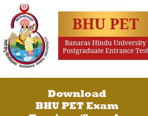 BHU PET Question Papers