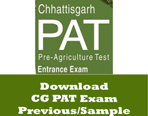 CG PAT Question Papers