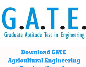 GATE Agricultural Engineering Question Papers
