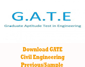 GATE Civil Engineering Question Papers