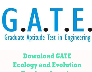 GATE Ecology and Evolution Question Papers