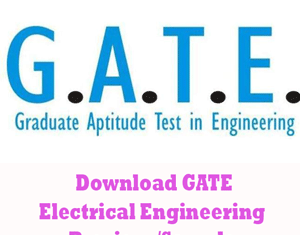 GATE Electrical Engineering Question Papers