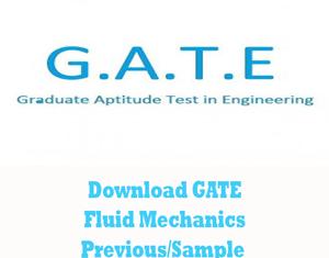 GATE Fluid Mechanics Question Papers