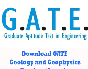 GATE Geology and Geophysics Question Papers