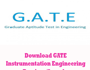 GATE Instrumentation Engineering Question Papers