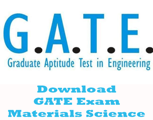 GATE Materials Science Question Papers