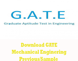 GATE Mechanical Engineering Question Papers