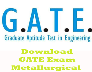 GATE Metallurgical Engineering Question Papers