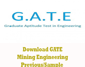 GATE Mining Engineering Question Papers