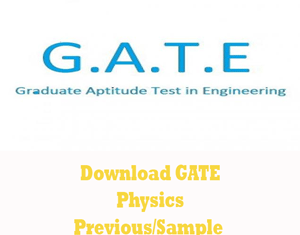 GATE Physics Question Papers