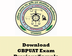 GBPUAT Question Papers
