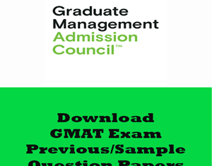 GMAT Question Papers