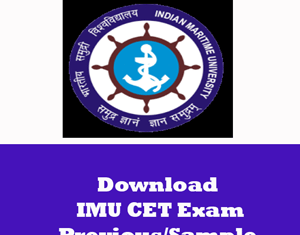 IMU CET Question Papers