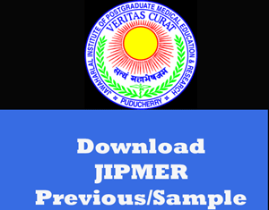 JIPMER Question Papers