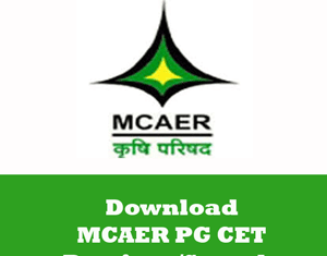 MCAER PG CET Question Papers