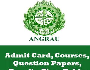 Acharya N.G. Ranga Agricultural University Time Table