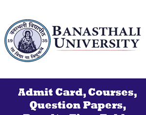 Banasthali Vidyapith University Time Table