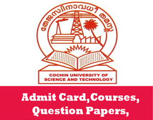 Cochin University of Science & Technology Time Table