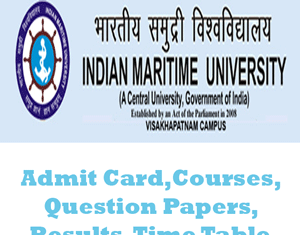 Indian Maritime University Time Table