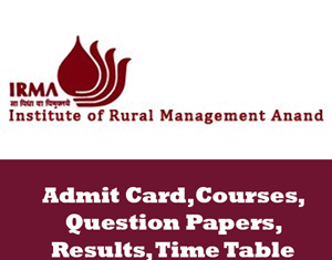 Institute of Rural Management Time Table