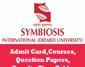 Symbiosis International University Time Table